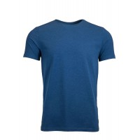Navy blue  Crew Neck Detailed T-Shirt