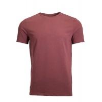 Claret Red  Crew Neck Detailed T-Shirt