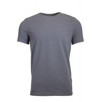 Grey Crew Neck Detailed T-Shirt