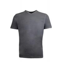 191003-Grey V  Neck %100 Cotton Tshirt