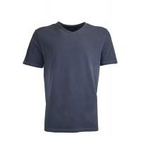 191003-Navy Blue V  Neck %100 Cotton Tshirt