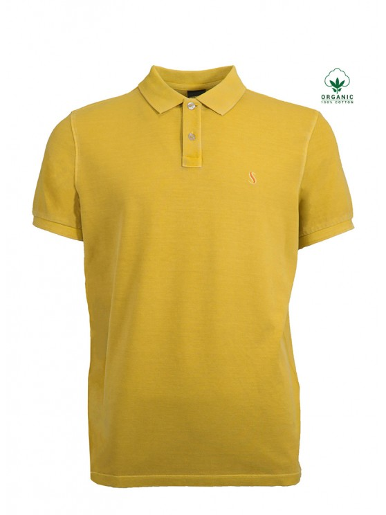 Mustard Organic Cotton Polo Shirt
