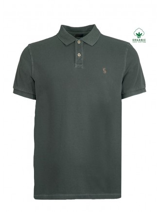 Dark green Organic Cotton Polo Shirt