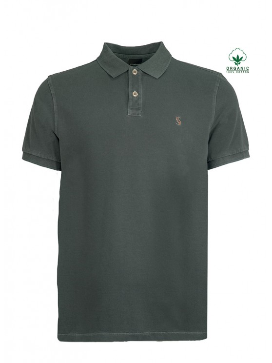 Dark green Organic Cotton Polo Shirt