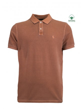 Brown Organic Cotton Polo Shirt