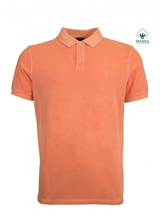 Orange Organic Cotton Polo Shirt