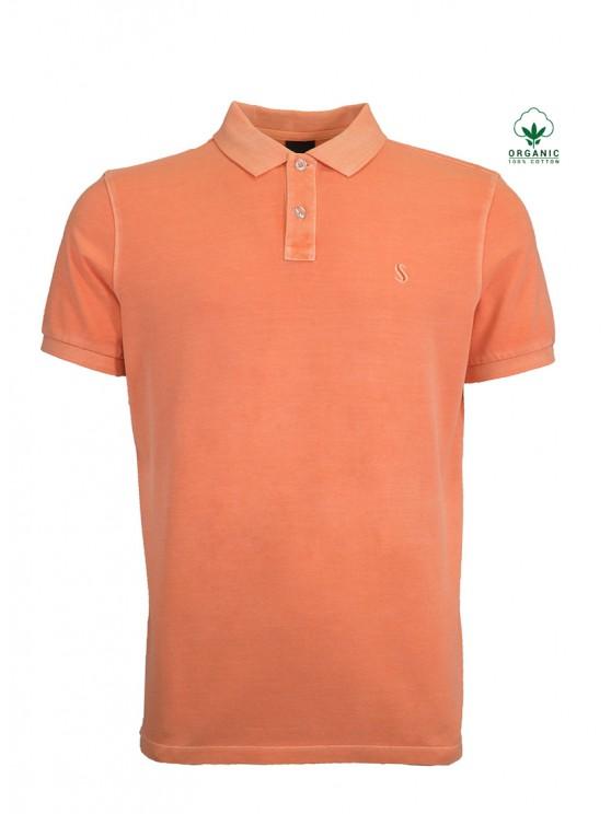 Orange Organic Cotton Polo Shirt