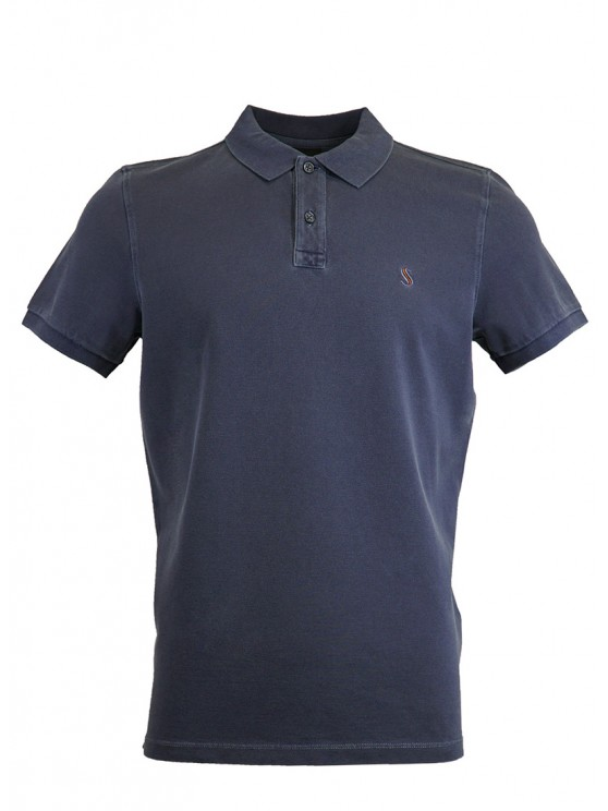 Deep Blue  %100 Cotton Pique Polo Shirt
