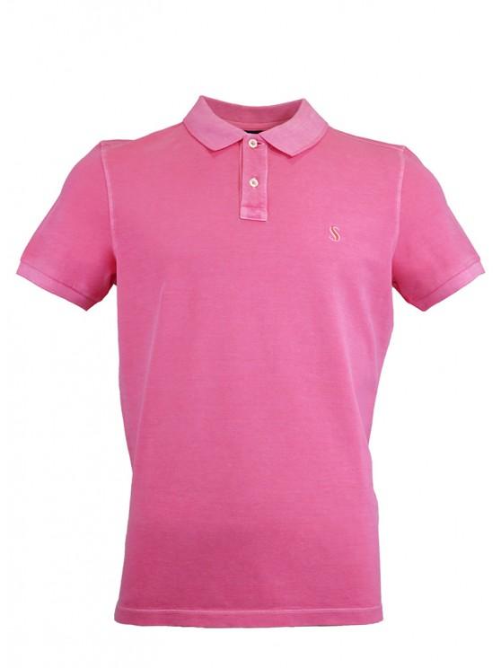 Rose %100 Cotton Pique Polo Shirt