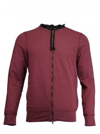 Claret Red Hooded Jacket