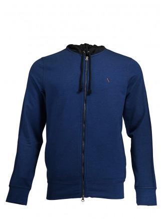 Navy Blue Hooded Jacket