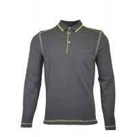 Grey Sweatshirt With Polo Collar