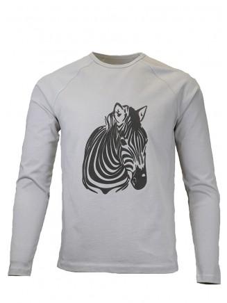 Grey Zebra Sweatshirt