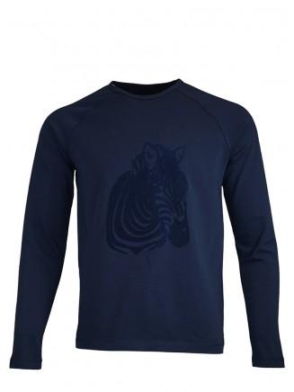 Navy Blue Zebra Sweatshirt