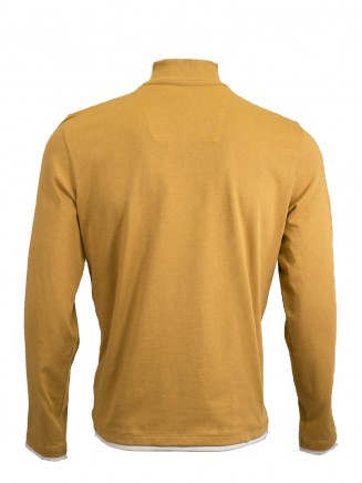 Mustard Troyer Neck Sweatshirt