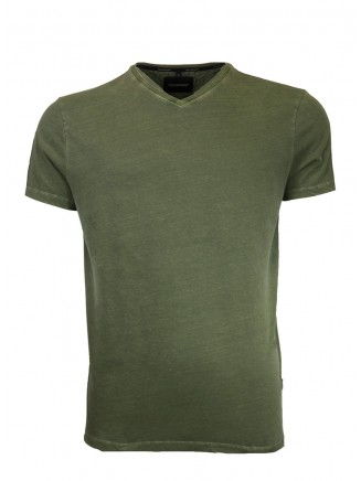V Neck Khaki T-Shirt