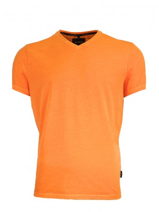 V Neck Orange T-Shirt