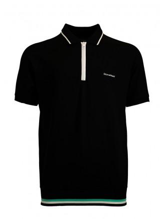 Black Creative Polo Shirt
