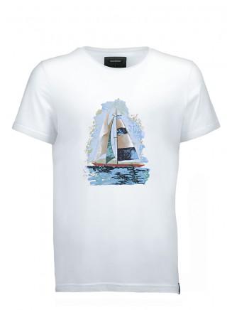 White Sailboat T-Shirt
