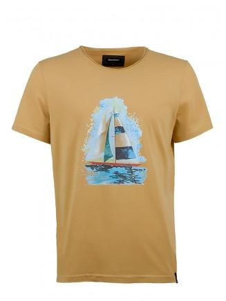Mustard Sailboat T-Shirt