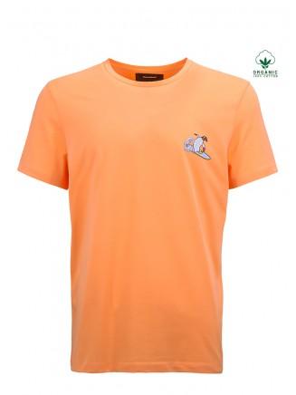 Salmon Colour Organic T-Shirt