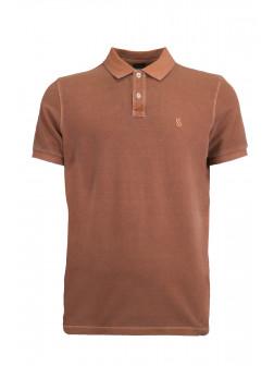 Brown Organic Cotton Polo Shirt