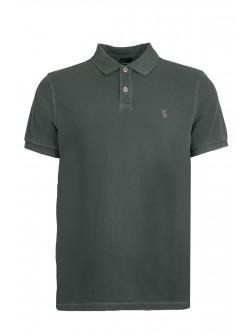 Grey Organic Cotton Polo Shirt