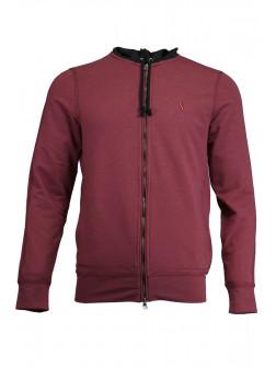 Claret Red Hooded Jacket