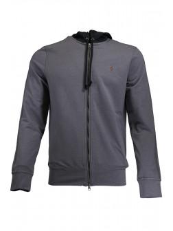 Grey Hooded Jacket