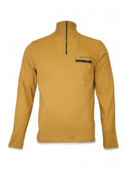 Mustard Troyer Neck Sweatshirt