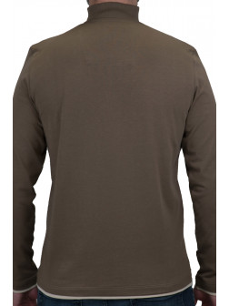 Khaki Troyer Neck Sweatshirt
