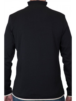 Black Troyer Neck Sweatshirt