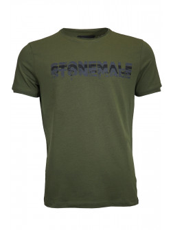 Khaki Green Stonemale T-Shirt
