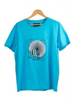 Circular Color Blue T-Shirt