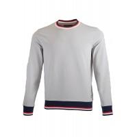 Grey Sweatshirt With Patch