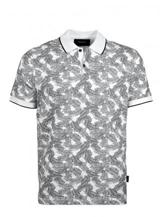 White Digital Printing Poloshirt