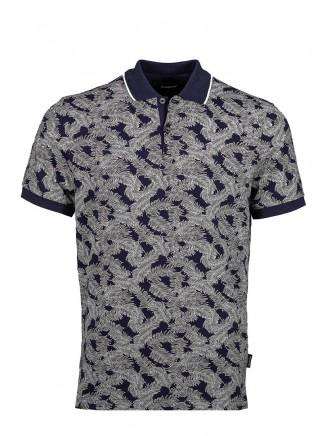 Navy Blue Digital Printing Poloshirt